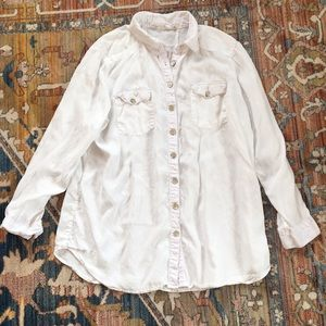 Soft Surroundings Casual White Blouse